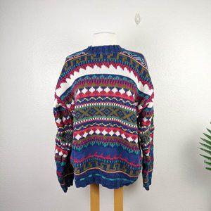 Vintage River Brand 90s Pattern Cotton Sweater XL